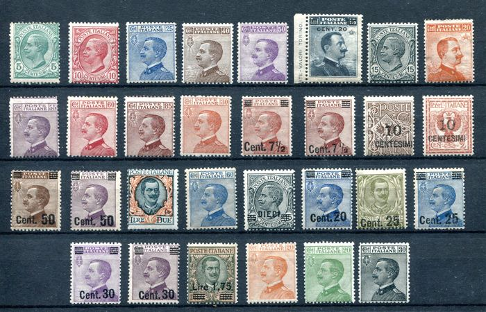 Italy Kingdom 1906/1925 - Re Vittorio Emanuele 3° - Serie ordinarie - Sassone NN. 87/85 - 106/12 - 127 - 135/40 - 150 - 157 - 175/85