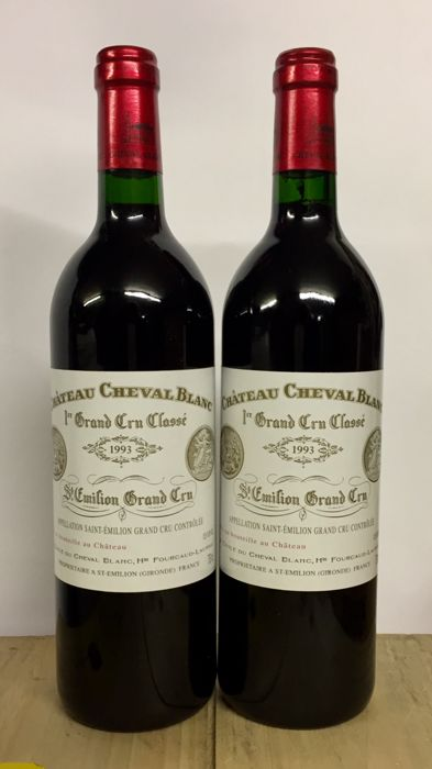 1993 Chateau Cheval Blanc, Saint-Emilion Grand Cru Classé - 2 bottles (75cl)