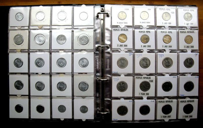 Asia - Coin collection Ca. 1700/2008 incl. silver in album