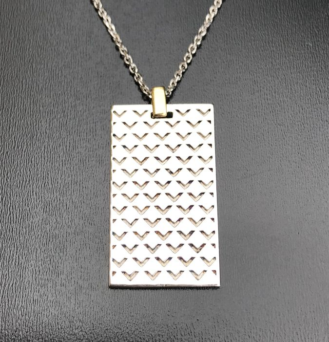 "Mauboussin - Chain and ""Salomé"" pendant in 925 silver and 18 kt gold ** No reserve price **"