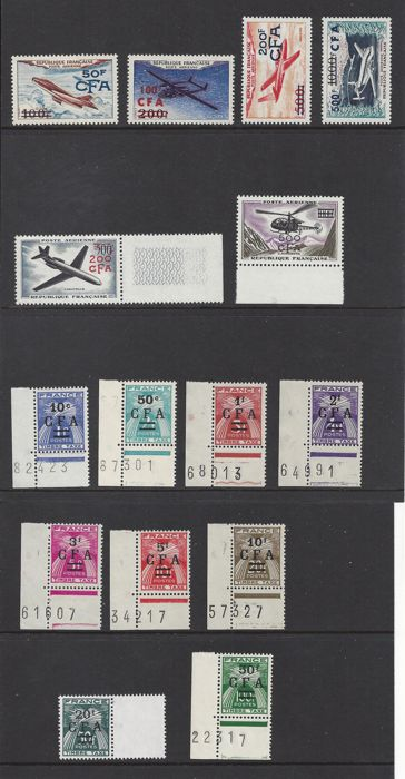 Réunion 1949/1961 - Airmail and postage
