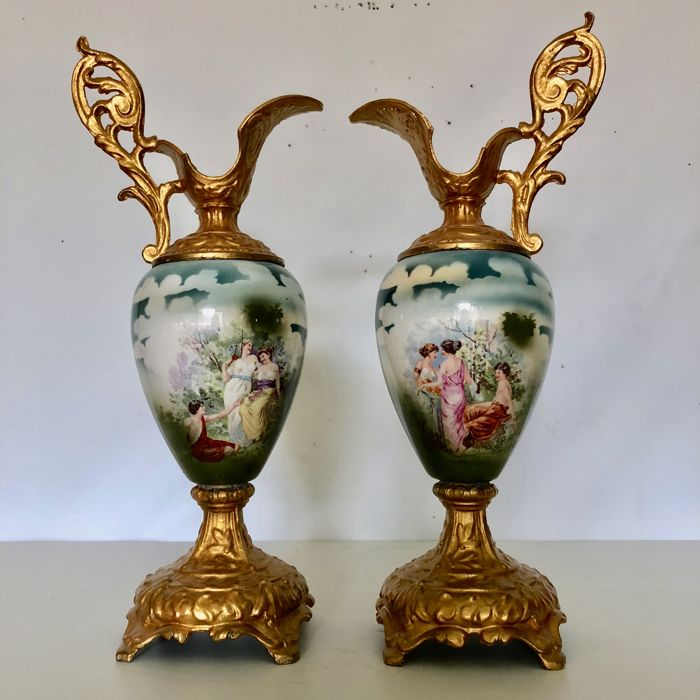 Two French Sevres Style Porcelain Vases 20th Century France Catawiki