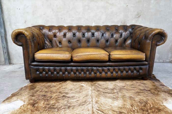 Vintage Chesterfield Sofa   2nd Half Of 20th Century   England