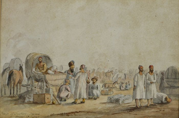 English school (19th century) - A camp of Tartars