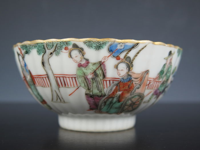 Porcelain famille rose bowl - China - 19th century (Xianfeng period and mark)