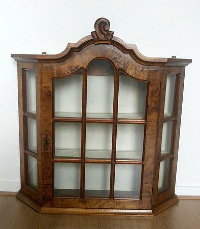Beautiful burl wood display case - mid 20th century - the Netherlands