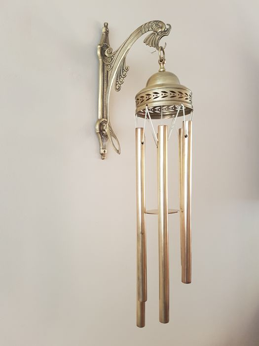 Wind chime, yellow copper, particularly beautiful sounds, 1st half 20th century