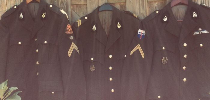 Lot of 3 TD uniforms Royal Army - NL