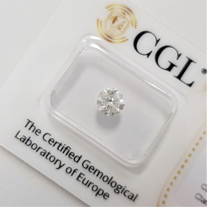 0.75 ct - Natural White Diamond - G Color - SI3 - VG/EX/VG - NO RESERVE!