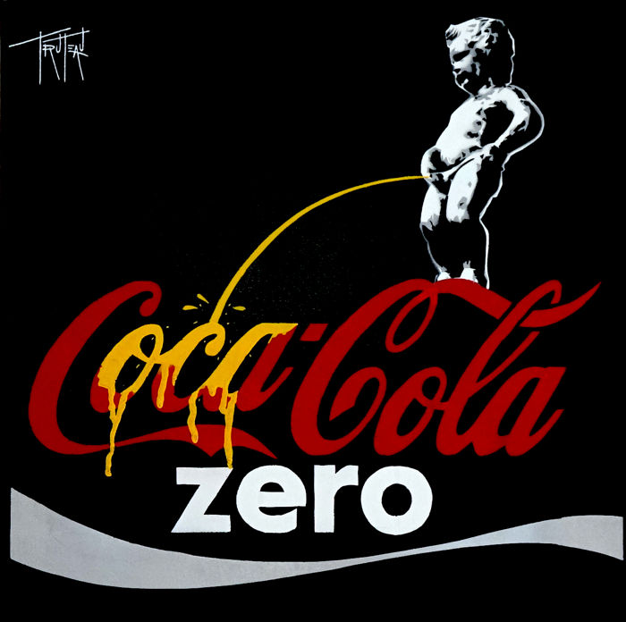 Truteau - The Manneken-Pis on Coca-Cola Zero