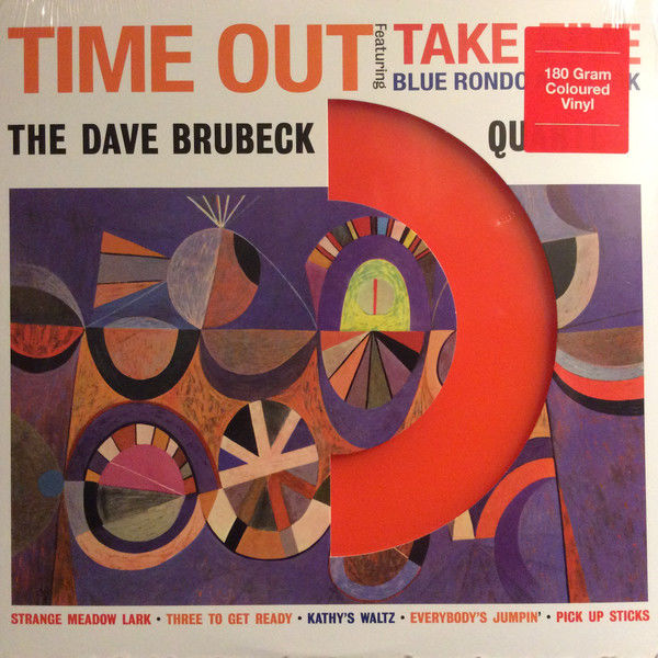 Lots of 4 Dave Brubeck Albums all on 180 Grams Vinyl, Time Out Color Orange, Jazz Goes To College, Time Further Out, Newport 1958