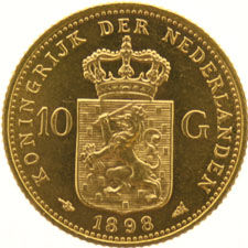 Netherlands - 10 Gulden 1898 (S) Wilhelmina - Gold