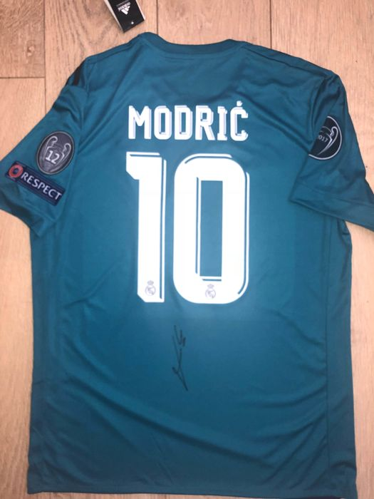 ea5c08b6b Luka Modric Signed Real Madrid Champions League Shirt Exact Proof