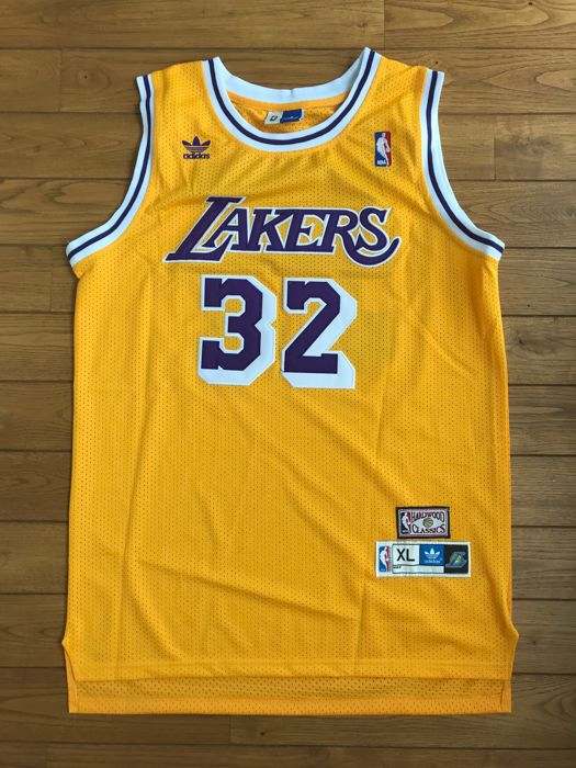 new product a9b78 ac8e9 Magic Johnson - Signed Adidas Los Angeles Lakers Jersey ...