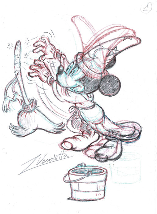 Mickey Mouse - The Sorcerer's Apprentice - Z. Vendetta - Original Sketch - First Edition