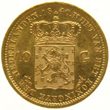 Netherlands - 10 Gulden 1840 Willem I - Gold