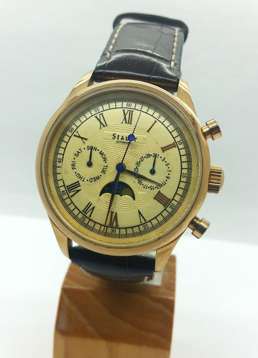 Stauer - day-date-moon/sun phase automatic - 17369 - Heren - 2011-heden
