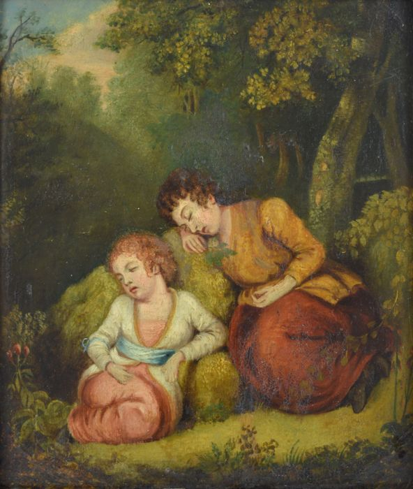 English school (19th century) - Babes in the wood