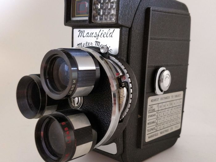 Manfield 8 mm film camera