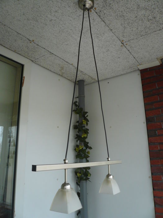Troost stainless steel ceiling lamp - in good condition - 20th century