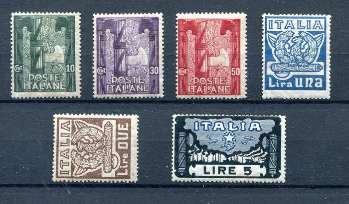 Italy Kingdom 1923 - Anniversary of the march on Rome - Sassone NN. 141/146