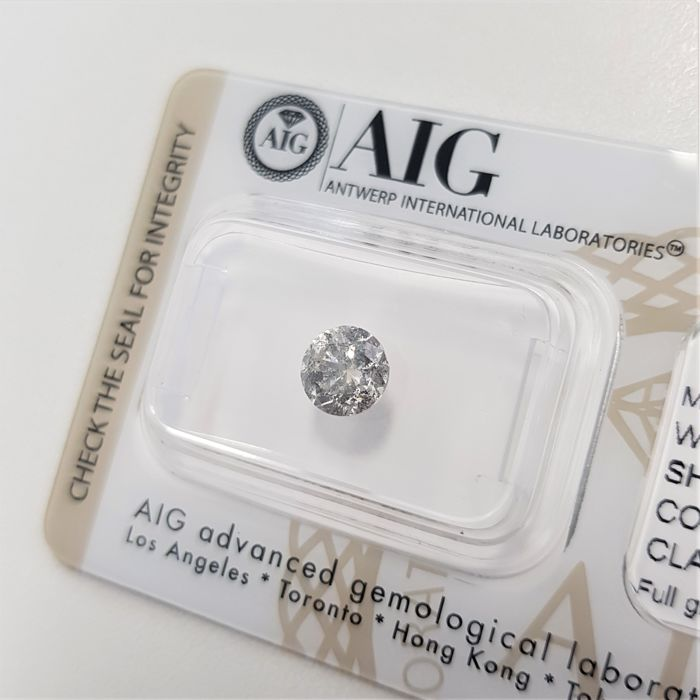 0.97 ct - Natural White Diamond - F Color - I1 - G/VG/VG - NO RESERVE!