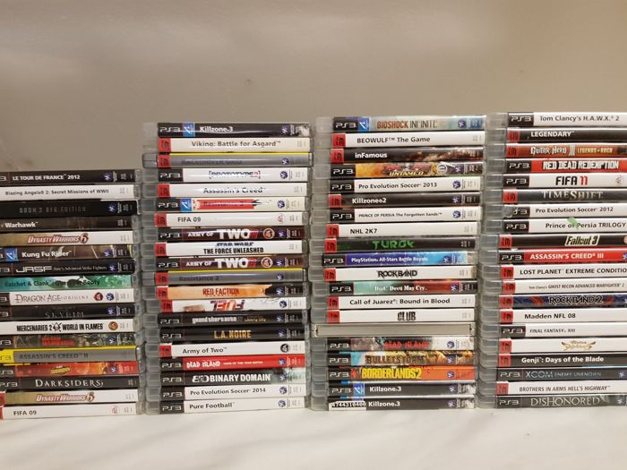 Big Collection of 77 Playstation 3 games!!! (Assassins Creed, Dishonored, Killzone, Skyrim, Fall Out)