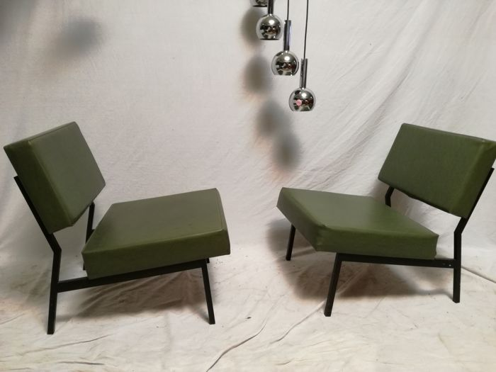 Fabrikant onbekend - 2 mid-century fauteuils