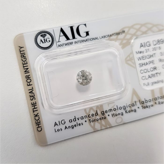 0.61 ct - Natural White Diamond - G Color - I2 - NO RESERVE!