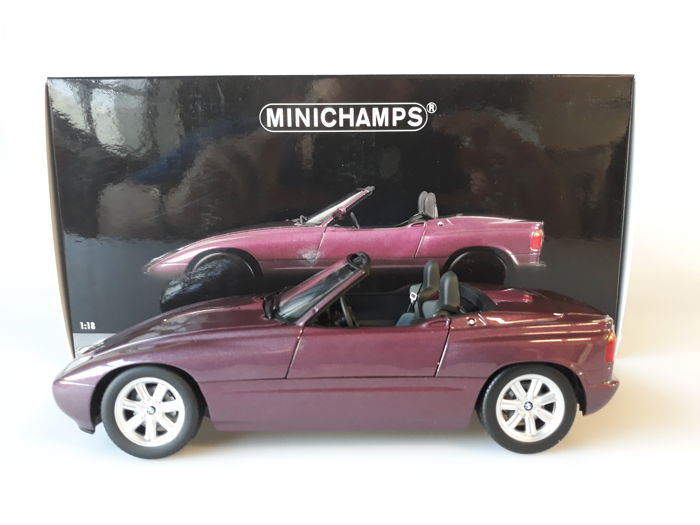 MiniChamps - 1:18 - BMW Z1 1988 - Purple Metallic