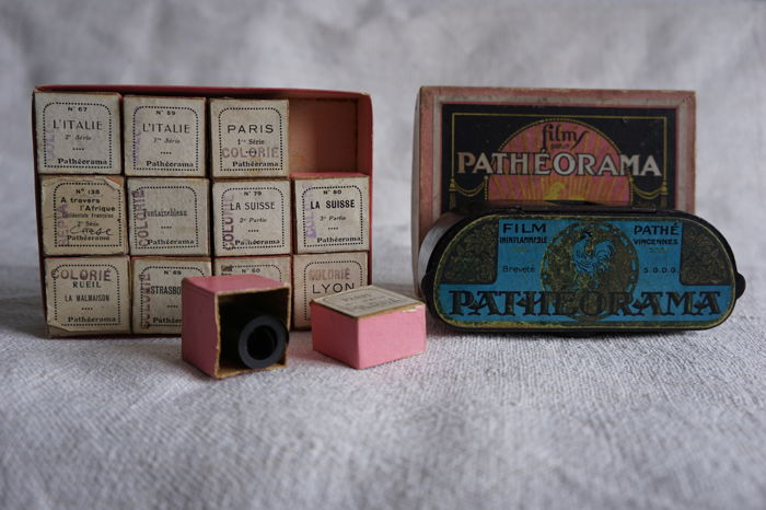 Antique viewer for film strips by PATHE company