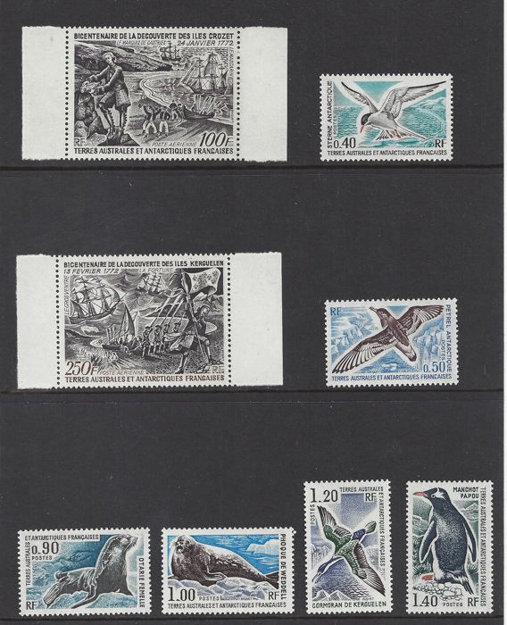 French Southern and Antarctic Lands 1972/1976 - motive - Yvert 55/60, PA27/28