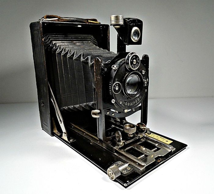 Goerz Tenax - Antique 10x15cm Folding Camera Tenastigmat 1:6,3 F = 13,5 cm