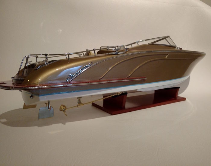 Model ship entirely made of wood Riva Rama Gold - 67 cm