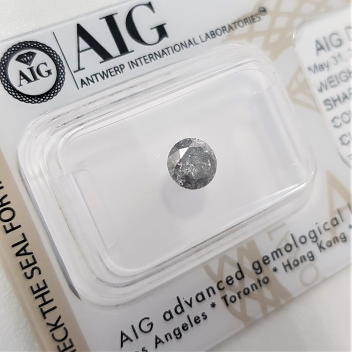 0.73 ct - Natural White Diamond - I Color - I2 (Nuance of Gray) - NO RESERVE!