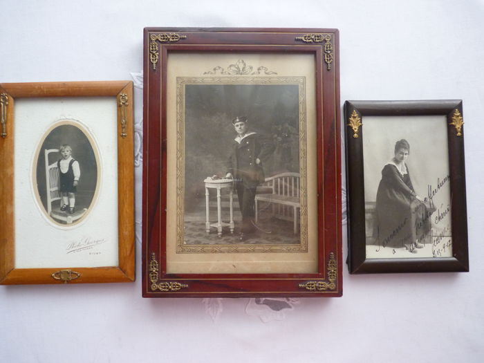 Three frames in wood, bronze decorations in Regency style - circa 1900 - France, Belgium