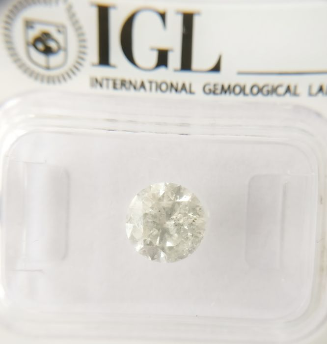 1.38 ct Round cut diamond G I1