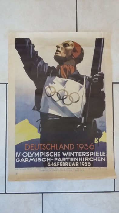 Ludwig Hohlwein poster 1936 Winter Olympics
