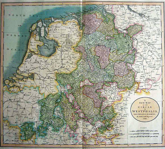Map Of Germany In 1800.Germany Westphalia Nethrlands Cary A New Map Of The Circle Of