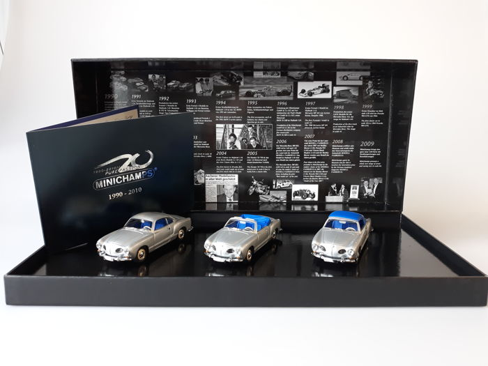 MiniChamps - 1:43 - Set: 3 x Volkswagen Karmann Ghia 1957 - Limited Edition of 320 pcs.
