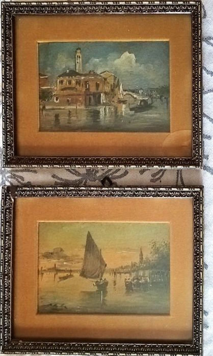 (Attributable to) Vittore Antonio Cargnel - 2 works (Views of Venice)