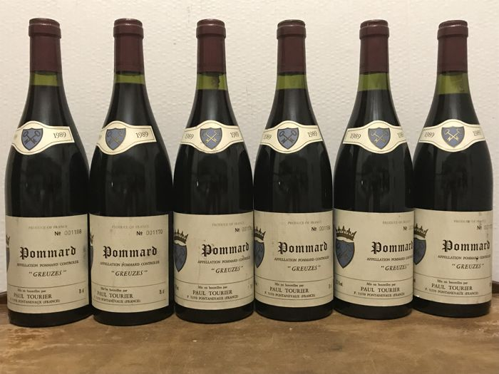 "1989 Pommard ""Greuzes"", Paul Tourier / Total 6 Bottles"