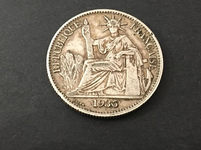Frans Indo-China - 50 Cent 1936 - Zilver