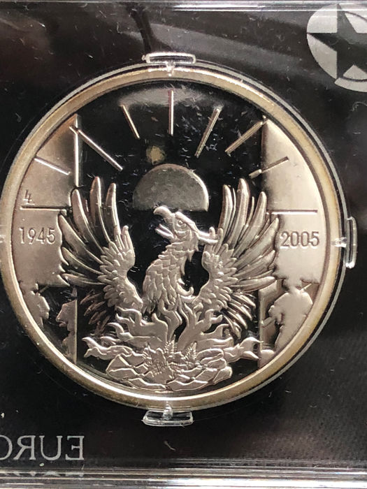 Belgium 10 Euro 2005 60 Years Peace And Freedom Silver