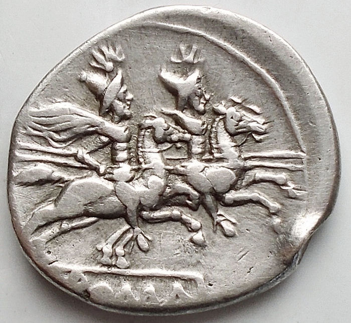 República Romana - Anonymous Denarius, after 211 BC - Crawford 53/2 - Plata