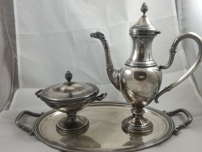 Precious Imperial Tea Set in silver 800 - silversmiths: Ricci and Co., Massimo Milanese, ARGENTERIA L.A.M