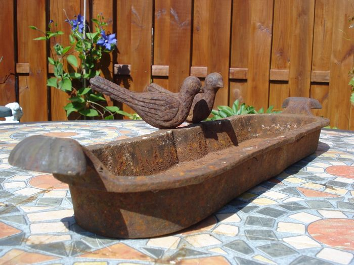 Cast iron bird bath / water dish 48 cm - France - 20th century