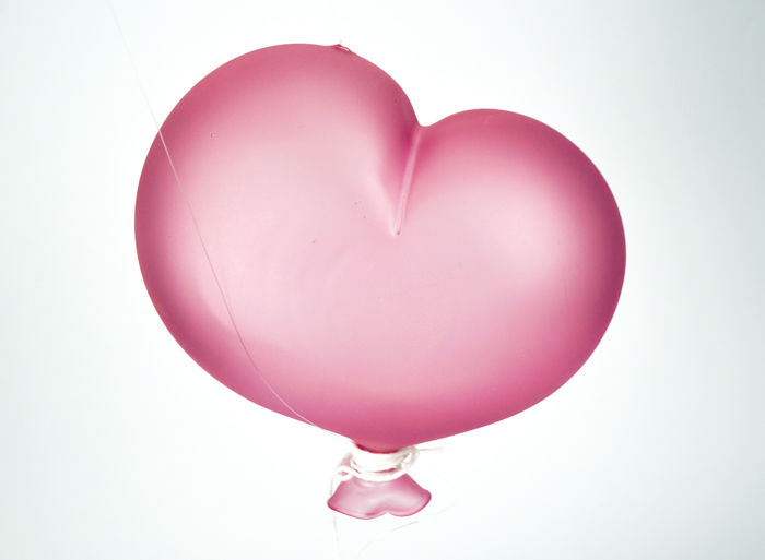 De Mio Giuliano (Murano) - Pink heart-shaped satin balloon (3rd size)