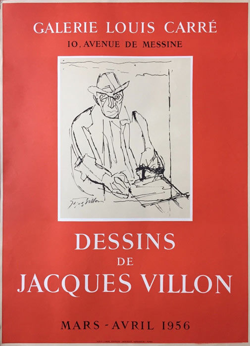 Jacques Villon - 'Dessins de Jacques Villon' exhibition, Galerie Louis Carré - 1956