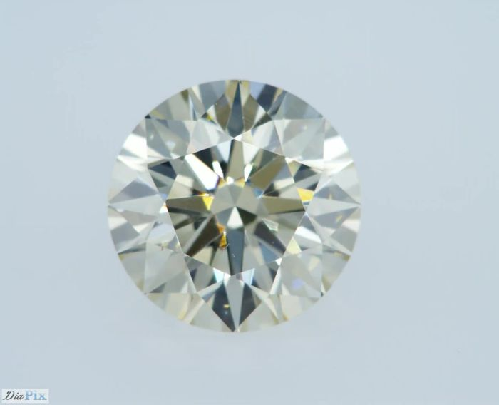 1.02 Carat Round Brilliant Fancy Light Brown- Greenish Yellow VS1 GIA Certificate Natural Diamond